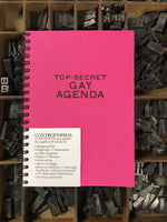 Top-Secret GAY AGENDA Notebook Made by Lunalux