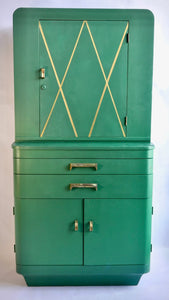 Refinished 1920s Art Deco Hospital Cabinet