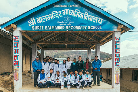 CIME Nepal bezoek Little Doctors in school Simikot, Humla