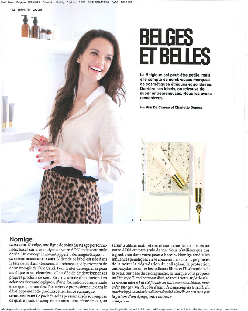 CÎME in Marie Claire