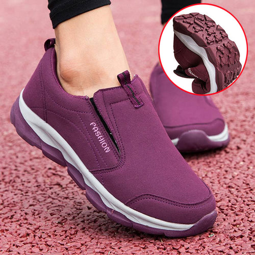 Thick Warm Middle-Aged Soft Bottom Sports Mother Shoes