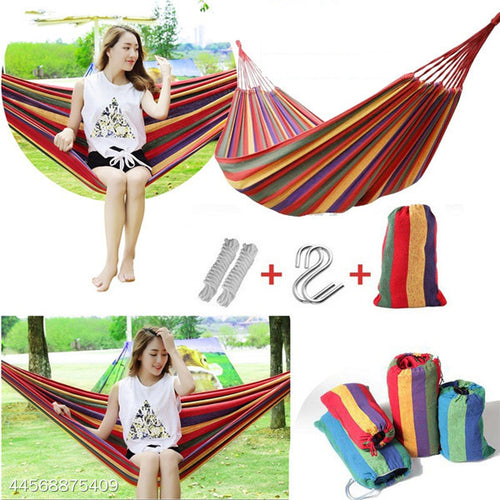 Thickened Canvas Hammock Outdoor Camping Swing