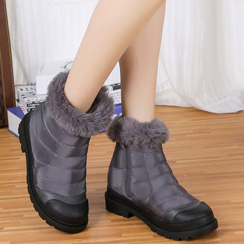 Zipper Round Toe Soft Warm Boots For Women