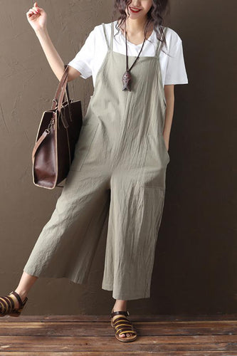 Casual Cotton/Linen Loose Jumpsuits