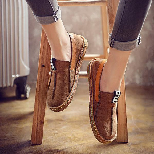 Comfortable Single Shoes Flat Bottomed Feet  Round Head Single Shoes