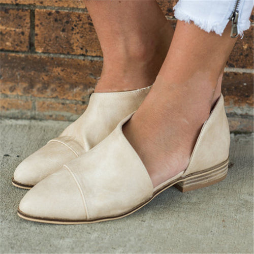 Fashion Low-Heel Pointed Shoes
