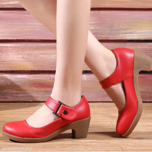 Soft Bottom Round Head Square Dance Shoes Female
