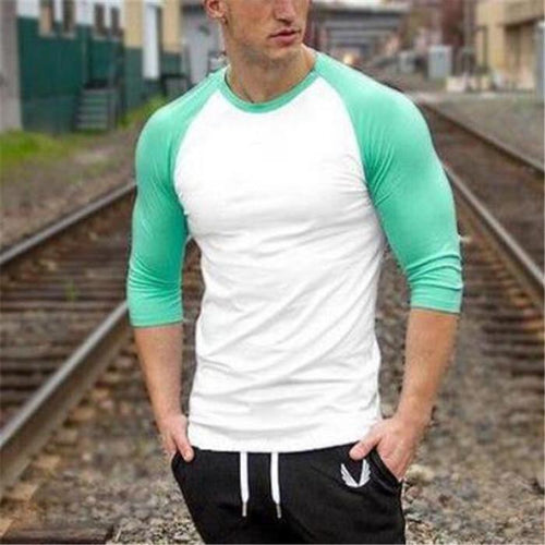 Fashion Casual Youth Sport Loose Color Block Short Sleeve Top