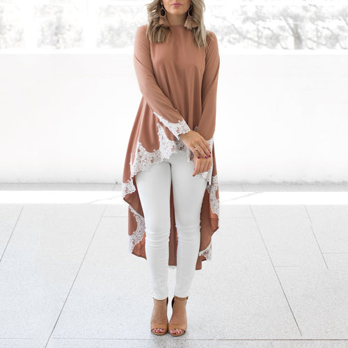 Fashion Plain Long Sleeve Casual Dresses