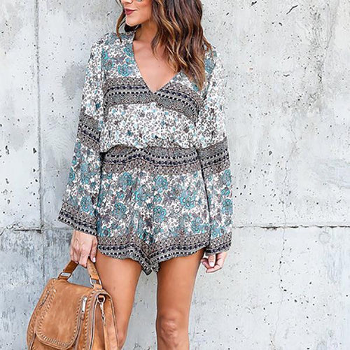 Back Fringed Lace Long Sleeve  Jumpsuit