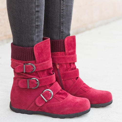 Flat Bottom Large Size Thick Cotton Boots