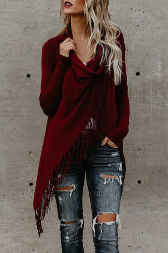 Fashion Tassel Long Sleeve Cardigan