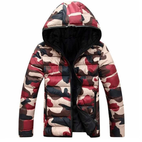 Casual  Down Jacket  Camouflage Warm Coat