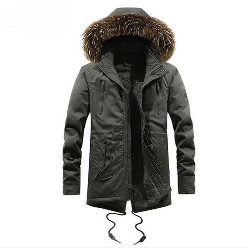 Thick Cotton Jacket With Fur Collar