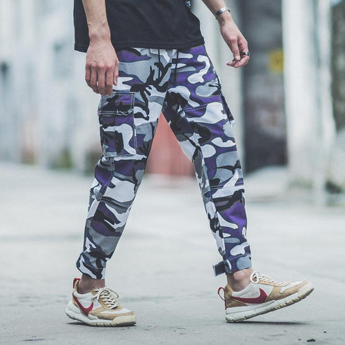 Fashion Street Style Mens Camouflage Printed Hip Pop Jogger Pants