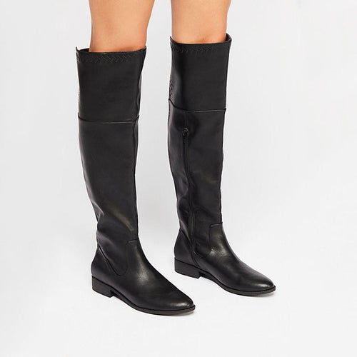 Women Low Heel Height Long Boots