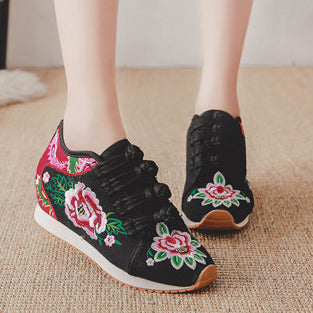 Chinese Style Embroidered Casual Canvas Shoes