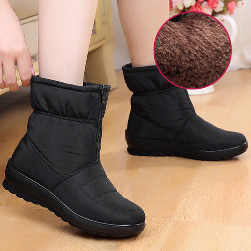 Thick Cotton Snow Boots