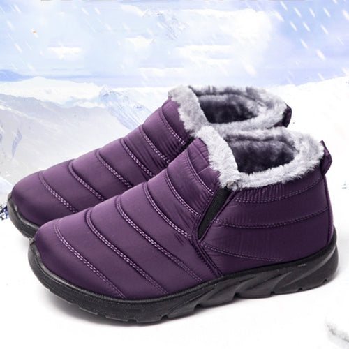 Winter Women Ankle Boots Fashion Platform Warm Snow Shoes