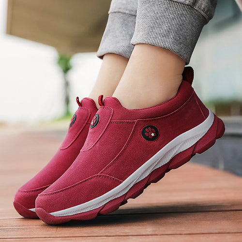 Women Casual Soft Wearable Slip On Flat Sports Shoes