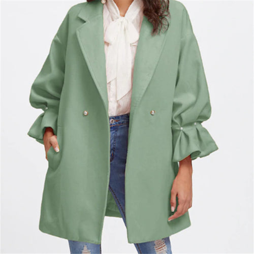 Fall And Winter Big Shop To Turn Over Long Sleeve Genuine Coat