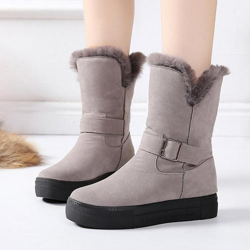 Fashion Middle Tube Snow Boots