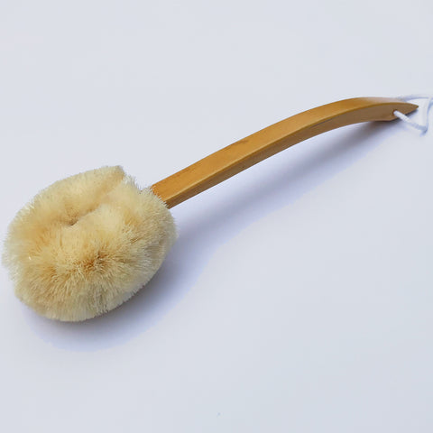 Back Body Brush With Wooden Handle - ELYTRUM
