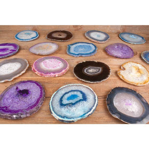 Hiouchi Jewels - Agate Crystal Coaster Set