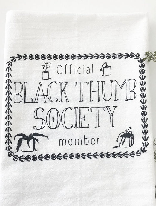 The Coin Laundry - Black Thumb Society Cotton Kitchen Towel
