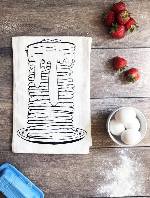 The Coin Laundry - Stack of Pancakes Cotton Kitchen Towel