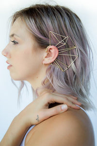 Nina Berenato Brass Matrix Ear Cuff