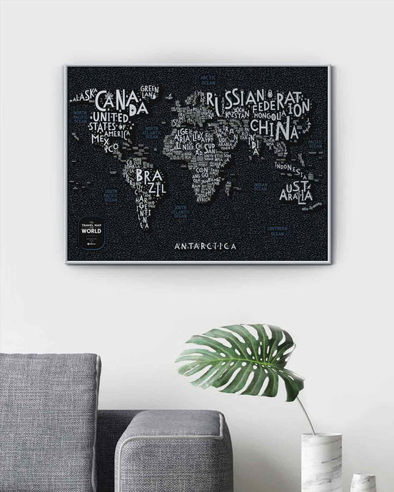 1DEA Travel Map® Letters World