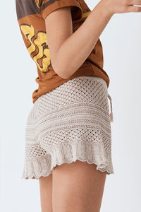 Spell & The Gypsy Collective Atlantic Crochet Flutter Shorts
