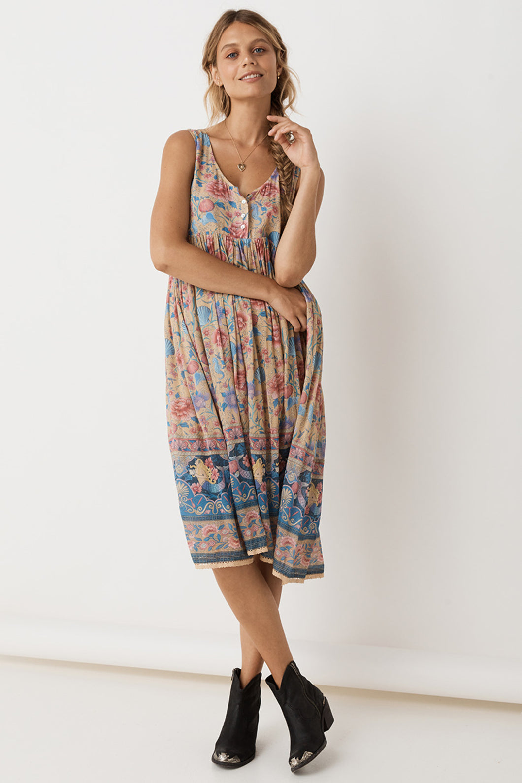 Spell & The Gypsy Collective Seashell Babydoll Midi Dress