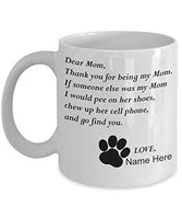 Customizable Personalized Dog Mom & Dad Custom Pet Name Coffee Mug Perfect Gift Idea For Birthday Graduation Christmas Father's Day Mother's Day Gifts From Fur Child Dog Lover Gifts 11oz (A)