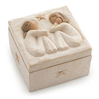 Willow Tree Friendship, sculpted hand-painted keepsake box