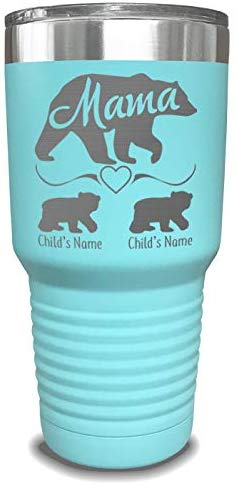 Mama Bear Personalized Tumbler - Laser Engraved, add up to 10 Cubs - Perfect Gift for Moms or Mothers' Day Gift
