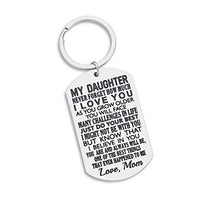 Inspirational Gift to Son from mom-Never Forget How Much i Love You Gift Keychain for Teen Boy from Mother in Law Stepmom