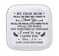 PUDDING CABIN Trinket Dish Ring Holder for Mom Birthday Gifts - Thank You Being The mom You Didn't Have to be