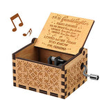 U R My Sunshine Music Box Wooden Laser Engraved Vintage Musical Box Gifts for My daughter from mom for Birthday Christmas