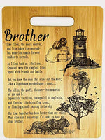 Mother's Gift – Bamboo Cutting Board Design Poem Mom Gift Mother's Day Gift Birthday Christmas Gift Engraved Side For Décor Hanging Reverse Side For Usage (8.75x11.5 Rectangle)