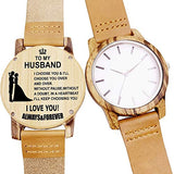 Customized Engraved Wooden Watch, Casual Handmade Wood Watch for Men Women Husband Wife Girlfriend Boyfriend Dad Mom Son Family Friends Customized Gift