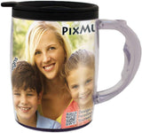 PixMug - Photo Travel Mug - The Mug That's A Picture Frame - DIY - Insert Your own Photos or Designs
