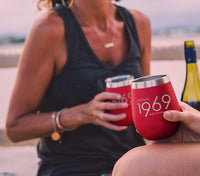 1969 51st Birthday Gifts for Women and Men Red 12 oz Insulated Stainless Steel Tumbler | 51 Year Old Presents | Mom Dad Wife Husband Present | Party Decorations Supplies Anniversary Tumblers Gift th