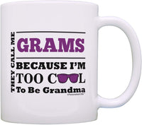 Personalized Mothers Day Gifts Too Cool to be Grandma Add Name Custom Gift Coffee Mug Tea Cup Pink