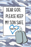Dear God, Please Keep My Son Safe: Daily Journal & Devotional with Bible Verses about Faith, Courage & Protection - A meaningful gift for an Army Mom ... Soldier (Military Appreciation Gifts)