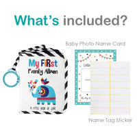 Urban Kiddy Baby's My First Family Album | Soft Photo Cloth Book Gift Set for Newborn Toddler & Kids (Elephant)