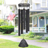ASTARIN Wind Chimes Outdoor Deep Tone,30 Inch Sympathy Wind Chimes Amazing Grace Tuned Soothing Relaxing Melody,Memorial Wind Chime for Mom Loved or Christmas Housewarming Decor Chime,Black