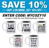 MyCozyCups Mom Nutritional Facts Coffee Mug - Funny New Gag Novelty Gift from Daughter, Son, Husband for Birthday, Christmas, Anniversary, Valentine's Day - Awesome Mommy Cup