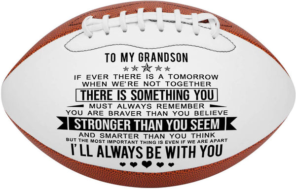 K KENON Engraved Footballs for Son from Mom - Personalized Composite Leather American Football - Anniversary Christmas Graduation Gifts for Son